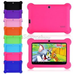 skins for android tablets Australia - 7 Inch Android Tablet PC Cases Drop resistance Anti-Dust Kids Child Soft Silicone Rubber Gel Case Cover For Q88 Q8 A33 Kids Gifts