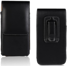 Cell phone Clip Cases online shopping - Universal Vertical Leather Belt Clip Tradesman Workman Pouch Case Cover for inch cell phone Iphone S Plus