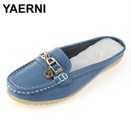 $enCountryForm.capitalKeyWord Canada - New arrival solid women summer slippers flip flops Genuine Leather flat Slippers ladies slip on flats clogs shoes woman