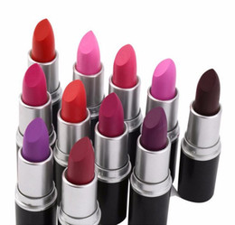 hot luster lipstick 2019 - Free DHL! 2017 HOT NEW M Makeup Luster Retro Lipsticks Frost Sexy Matte Lipstick 3g 24 colors lipstick with english name