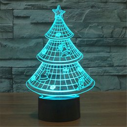 new colorful usb 3d christmas tree home bedroom office decoration desk table lamp child night lights christmas gift 3d td130