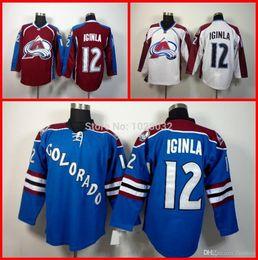 65e64cb6e3c ... 2016 NEW Mens Ice Hockey Colorado Avalanche 12 Jarome Iginla Jersey  White Third Bule Team Red ...