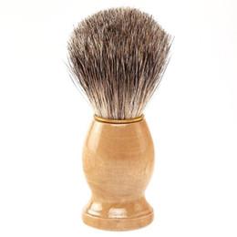 $enCountryForm.capitalKeyWord Canada - Professional Barber Salon Shave Shaving Razor Brush wood Handle Tools Beard Mustache Brushes For Men Clearance Beard Cleaning Tool