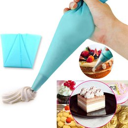 Kitchen Decorators Australia - Wholesale- 3Pcs Reusable Silicone Cream Pastry Bag Cupcake Decoration Bakery Tools Baking Pastry Tools For Cakes DIY Kitchen Accessories