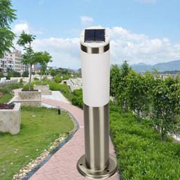 new solar power led garden lamp yard lawn light outdoor spotlight stainless steel lamp for yard door light