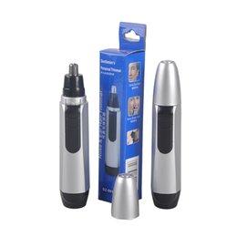 Нос уха лицо триммер волос электробритвы машинка для стрижки батарейках работает очиститель от мужчин и женщин 0606018
