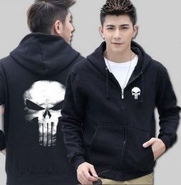 skull hoodies wholesale 2018 - Wholesale- The  mens hoody 2016 new autumn winter high quality men sweatshirt tracksuit hip hop style hoodie brand cloth