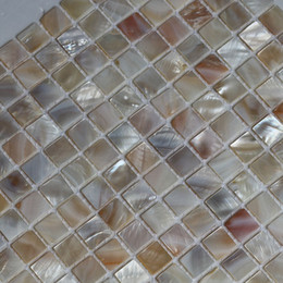 shell floor tile free shipping natural color mother of pearl shell mosaic