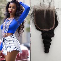 $enCountryForm.capitalKeyWord Canada - Free Shipping Loose Wave 4''x4'' (H L) Lace Clousre Top Grade Brazilian Virgin Hair Hidden Knots Closure G-EASY Hair