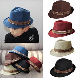 black fedora hats for girls 2019 - Hot Sale Kids Boy Girl Unisex Fedora Hats Cap for Children Contrast Trim Cool Jazz Chapeu Feminino Trilby Sombreros chea