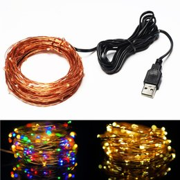 $enCountryForm.capitalKeyWord Canada - 10M 33FT 100 led USB Outdoor Led Copper Wire String Lights Or Christmas Festival Wedding Party Garland Decoration Fairy Lights
