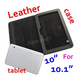 $enCountryForm.capitalKeyWord Australia - 100pcs DHL Freeshipping Solid Black Folding Folio Cover PU Leather Protective Tablet Case For For A33 A83T 10 10.1 Inch Wholesale Cheapest