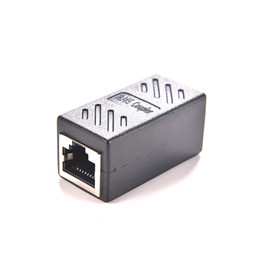 Discount ethernet cable female connectors - Wholesale- Hot Sale Female to Female Network LAN Connector Adapter Coupler Extender RJ45 Ethernet Cable Join Extension C