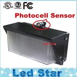 Fotocélula Sensor de parede LED pacote de luz 60 W 80 W 100 W 120 W À Prova D 'Água IP65 montagem na parede levou luz LED parede ao ar livre ac 85-265 v em Promoção