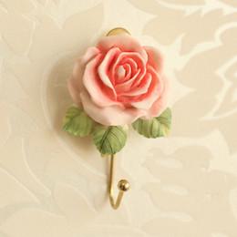 $enCountryForm.capitalKeyWord Canada - Wholesale- 1 Rose Self Adhesive Stick On Door Wall Mounted Tile Towel Hanger Hook Bathroom