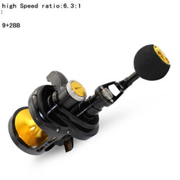 Fake Bait Canada - Deep ocean profession CNC Baitcasting Reels 9 + 2BB high Speed ratio bait casting Full Metal fishing wheel Specialize big things