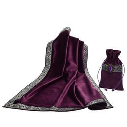 Autel Tarot Table Tissu Décor Divination CARTES Wicca Carré Nappe Tapisserie avec Sac 25.5