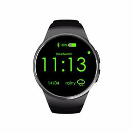 $enCountryForm.capitalKeyWord UK - KW18 Smart Watch Fully Screen Rounded Android IOS Bluetooth Reloj Inteligente SIM Card Heart Rate Monitor Watch Clock Mic Anti lost Bracelet