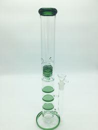 $enCountryForm.capitalKeyWord NZ - Glass Bong Water Smoke Pipe Glass Percolator Water Pipe Bong With Triple Honeycomb Disk Free Ash Catcher+2 Glass Bowls