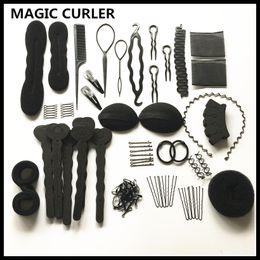 $enCountryForm.capitalKeyWord Australia - Magic Curler 20 Models Automatic Hair Sponge Bun Braider Sets Diy Hair Twist Styling Tool For Women Hairstyles Elastic Rubber