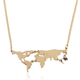 Shop world map pendant uk world map pendant free delivery to uk statement necklaces for women personality combination pendant necklaces exaggerated world map necklaces freerunsca Gallery