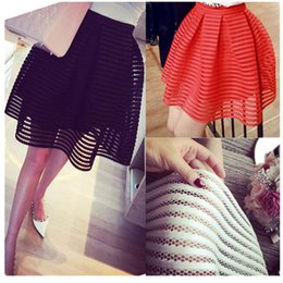 Black White Striped Line Skirt Online | Black White Striped Line ...