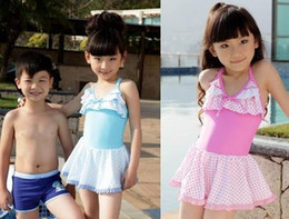 Boy Swimwear Piece Canada - 2015 manufacturers of children in child swimsuit big boy skirt one piece girls cute baby child swim spas swimwear A062326