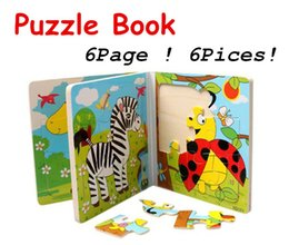 $enCountryForm.capitalKeyWord Canada - Baby Toys Puzzle Book 6Sides 8Pcs Wisdom Jigsaw Educational Wooden Toys Parent-Child Game Animal Birthday Gift Wholesale Retail