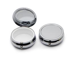 NEW Pill boxes No Scratches DIY Silver Один отсек Портативный Engravable Хромированный кошелек Украшение Организатор Контейнер # PY01S СВОБОДНАЯ ПЕРЕВОЗКА ГРУЗА