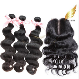 $enCountryForm.capitalKeyWord Canada - Middle Part Lace Closure Peruvian Human Hair With Closure Body Wave Grade 8A Natural Color 8-34 Inch Bellahair