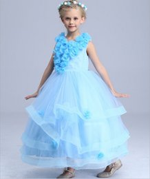 Robe De Mariée Pour Enfants Bébé Pas Cher-Enfants Infant Filles Pétales de fleurs Robes de demoiselle d'honneur enfants bébé élégante robe Pageant mariage Tulle nuptiale Party Formal Girl Dress
