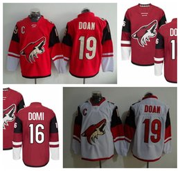 621632ff5ab ... arizona coyotes ice hockey jerseys 19 shane doan 16 max domi team color  2017 New Old Time Hockey Jerseys Phoenix Coyotes 19 Shane Doan Red Hoodie  ...