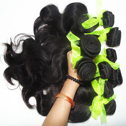 malaysian human hair 16 inch NZ - Mix lot 3pcs 300g Promotion hairstyles malaysian human hair bundles bouncy body wave weaving no shedding delivery fast