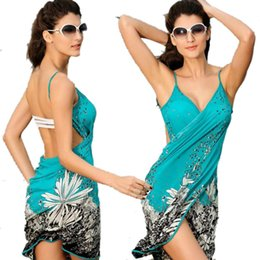 Couverture De Robe En Gros Pas Cher-Women Beach Cover-ups Sexy Sling Beach Wear Dress Sarong Bikini Cover-ups Wrap Pareo Robe Jupes Serviette Vente en gros Open-Back Swimwear 2506024