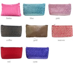 $enCountryForm.capitalKeyWord Canada - Simple cheap price zip closure letters wash makeup case cosmetic bag for women ELB027 wholesale