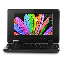 18 Laptop China Canada - 7 inch Mini Netbook VIA8880 1GB RAM 8GB ROM Android 4.4 Notebook WiFi HDMI Webcam Laptop