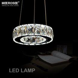 Hot Sale 1 Ring D200mm LED Crystal Chandelier Light Lamp Lustre De Cristal Hanging Lighting For Dining Room Hotel MD2226 Led