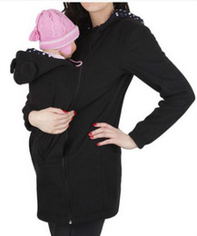 Maternity Sweater Coats UK - Baby Carrying Jacket Baby Carrier Hoodie Kangaroo Coat&Jacket for Mom and Baby Baby Wearing Hoodie Size Maternity Sweater