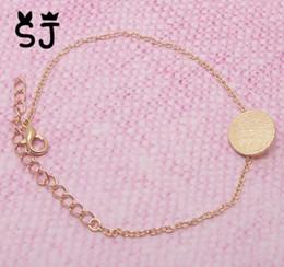$enCountryForm.capitalKeyWord Canada - 10PCS- B008 Brushed Round Circle Bracelet Tiny Disk Coin Bracelet Geometric Disc Dot Bracelet Simple Pie Bracelets for Women