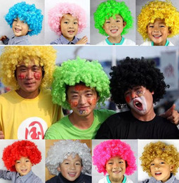 $enCountryForm.capitalKeyWord Canada - Men women Clown Fans Carnival Wig Disco Circus Funny Fancy Dress Party Stag Do Fun Joker Adult Child Costume Afro Curly Hair Wig party props