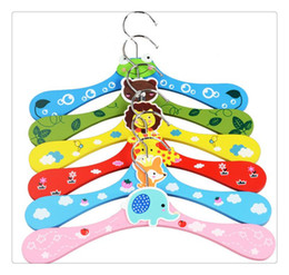 $enCountryForm.capitalKeyWord Australia - 30pcs lot Free shipping New Cute Cartoon Animals Wooden kids Clothes Hanger baby children hanger 6 styles wholesale