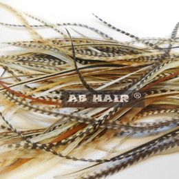 RoosteR featheRs haiR extension online shopping - 20 cm natural color feather hair extensions per Real Grizzly Thin Rooster Feather hair extensions feather hair supplier