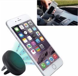 magnet air Australia - 360 Rotating Air Vent Magnetic Car Mount Mini Magnet Smart Phone Mounting Holder for Iphone 7 7 Plus