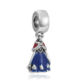 $enCountryForm.capitalKeyWord Canada - Latest Fashion Floating Charms Alloy Rhinestone Princess Dress beads pendant frozen pendants Lobster Clasp Charms DIY Accessories Jewelry
