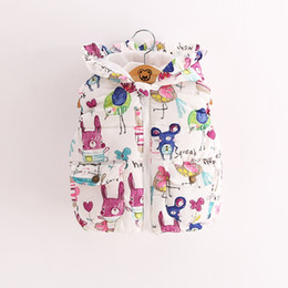 $enCountryForm.capitalKeyWord Canada - 2016 autumn winter children jackets animal owl bird printed baby girl's thick warm vest hot sale girl sweaters kids winter coat