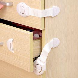 Drawer Kids NZ - Lengthened Multi-function bendy Fridge Cabinet Door locks Drawer Toilet Safety Plastic Lock Care For Child Kids baby