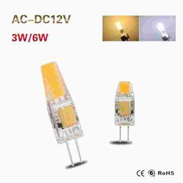 $enCountryForm.capitalKeyWord NZ - 6X Dimmable G4 COB LED Lamp 3W 6W AC DC 12V Mini LED G4 COB Bulb Light Replace Halogen Crystal Chandelier Lights Lampadas LED