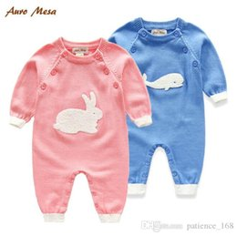 $enCountryForm.capitalKeyWord Canada - INS 2 color Newborn Hot selling new arrivals fall baby kids climbing sweater cartoon animal romper high quality cotton long sleeve romper