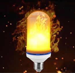 Flame Bulbs Canada - LED Flame Effect Light Bulb, E26 LED Flickering Flame Light Bulbs, 105pcs 2835 LED Beads Simulated Decorative Light Atmosphere Lighting Vint