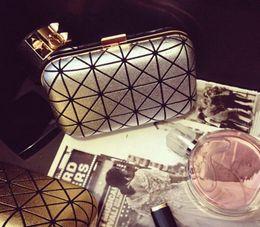 $enCountryForm.capitalKeyWord Canada - Fashion Brand Bronzing Evening Bag Famous Hot Selling Plaid Handbag Encrusted Clutch Quilted Hard Chain Box Chain Messenger - GH2
